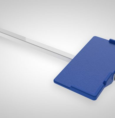 leg rest attachment product image, shown not fitted to lift with white background