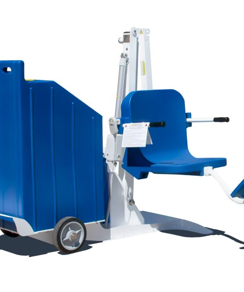 Portable Pro Pool Lift, CGI example in blue